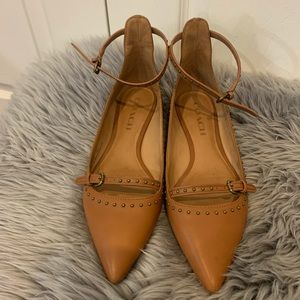 Coach leather flats with rivet